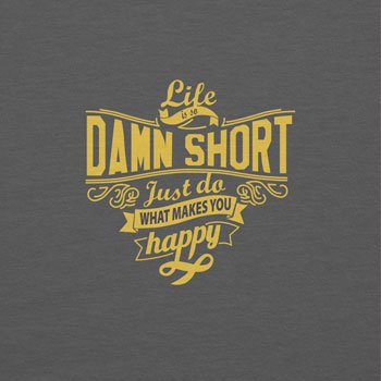TEXLAB Texlab - Life Is So Damn Short, Borsetta da polso donna Grau