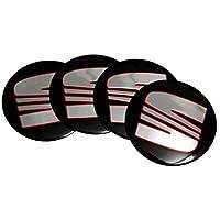 Jqlcgtmqwu 4Pcs 56.5mm Car Sticker Wheel Center Hub Cap Aluminium Seat Logo Emblem