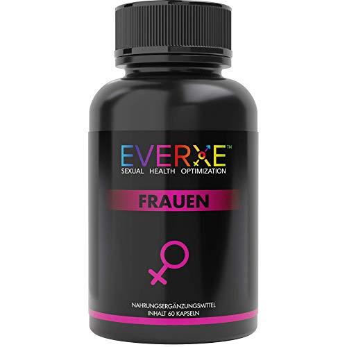 Everxe Premium Natürliches Libido & Lust Steigerung für Frauen mit Maca Pulver, Vitamin A B C Kapsel - Optimal zum Libido steigern für die Frau