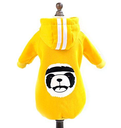 Imagen de zunea invierno cálido abrigo panda disfraz de forro polar sudaderas con capucha sudadera chaqueta de deporte pequeño perro ropa cachorro gato prendas de vestir
