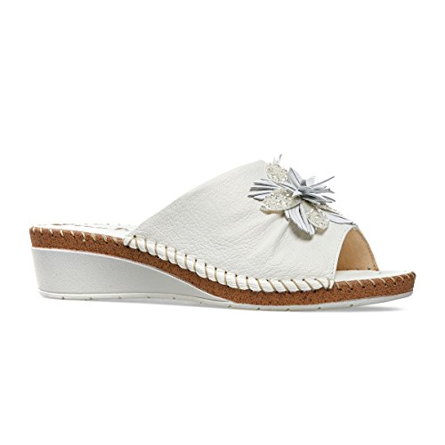 Van Dal Damen Banks Offene Sandalen mit Keilabsatz White (White)