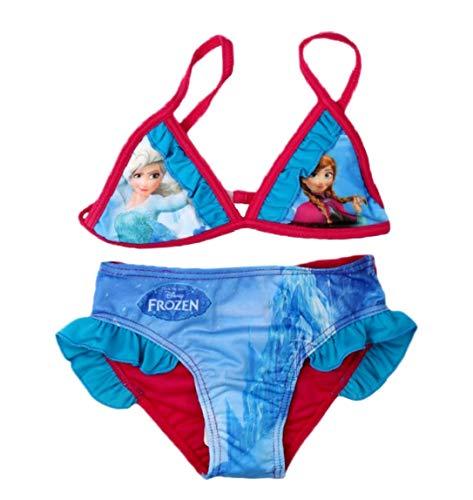 Frozen Bikini Bademode Die Eiskönigin 2018 Kollektion 98 104 110 116 122 128 Neu Völlig Unverfroren Anna Shiny Effekt Fuchsia (104 - 110; Prime) (Mädchen Frozen Bikini)