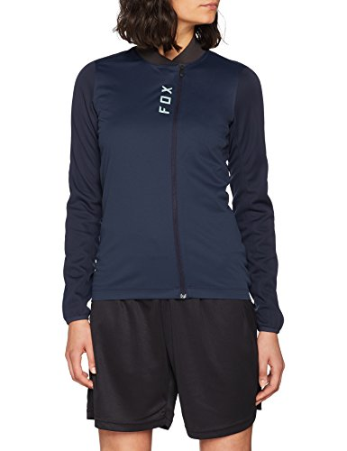 Fox Damen Attack Thermo Langarmshirt, Navy, S - Fox Racing Jersey-stretch