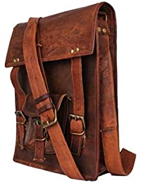 Anshika International Trendy Sling Ipad Messenger Leather Bag For Men Women Unisex - Macbook Pro Macbook Air Laptop...