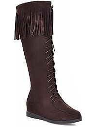 Otoño zapatos/Zapatos ocasionales pala los hombres/Los zapatos altos/Zapatos retro British/Hombres zapatos de cordón coreano-C Longitud del pie=24.3CM(9.6Inch) ZoOEA3bn