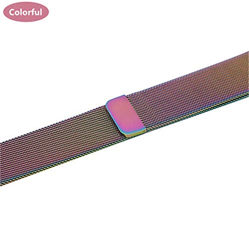 QNJ cinturino milanese per cinturino 44mm 40mm 4 5 cinturino iwatch 42mm 38mm cinturino orologio acciaio inossidabile 5 4 3 2 accessori per 42mm e 44mm colorato