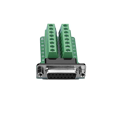 SIENOC DB15-M2 2Row 15Pin Buchse Port Breakout Board Anschlüsse Schraubenmutter Anschlüsse (DB15-M2-01 Adapter) (Db15-adapter)