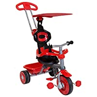 Charles Bentley Kids Trike Star with Canopy & Safety Guard 4 in 1 with Adjustable Steering Parent Handle in 4 Colours