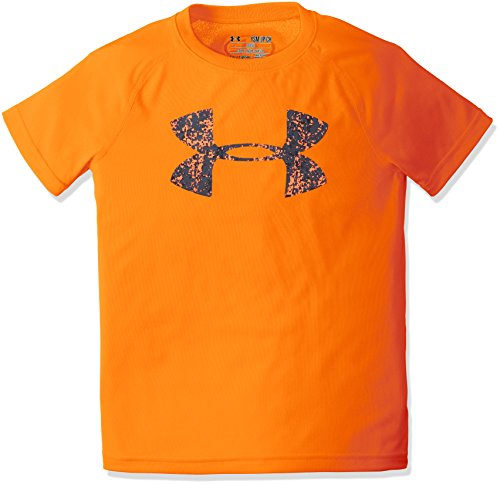Under Armour Boys 'UA Tech Big logo SS camicia a maniche corte, Ragazzi, UA Tech Big Logo SS, Magma Orange, XL