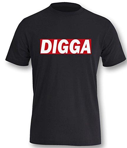 Digga Herren T-Shirt Schwarz / Bunt