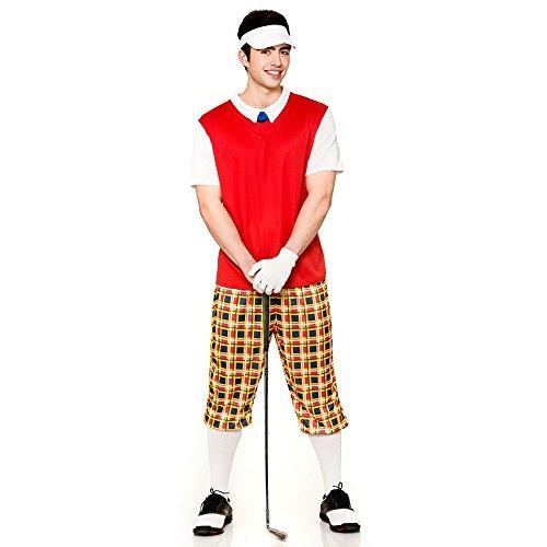 Adult Mens Funny Pub Golfer Fancy Dress  Men  Large