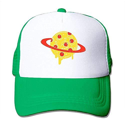 Hoswee Unisex Kappe/Baseballkappe, Pizza Planet Men's Classic Mesh Back Trucker Hats Air Mesh Polyester Cap -