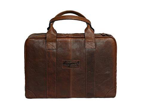 Hampton - Brandslock Unisex Laptop Messenger Handtasche aus echtem Leder Aktentasche -