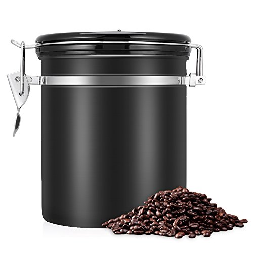 EECOO Kaffeedose Luftdicht,Kaffeedose,Kaffeebehälter,Kaffeedose Edelstahl Aromadose Vorratsdose...