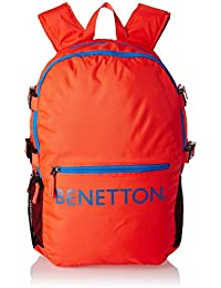 United Colors of Benetton 20 Ltrs Red Casual Backpack (16A6BAGT7002I)