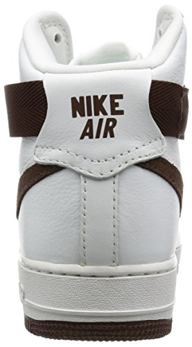Air Force 1 Hi Retro Qs, vertice Bianco / Lupo grigio, 8 M Us Blanco / Marrón (Summit White/Chocolate)