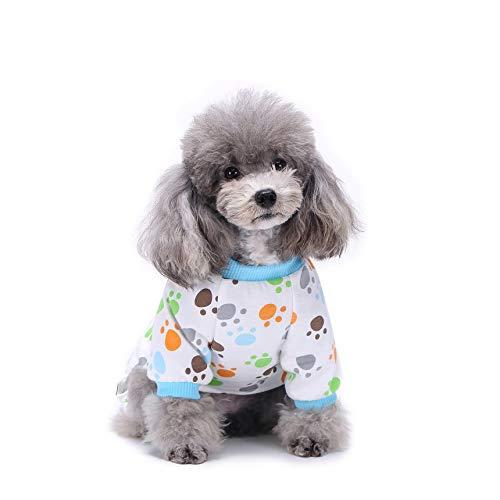 Kostüm Hunde Ente - Pet Vierfuß-Pyjamas MQ-SY05 kleine gelbe Ente gelb XS rosa S nette gedruckte Hundekleidung Kleiner Hund Overall Chihuahua Pyjamas Pet-Mantel für Hunde Katzen Super Soft Warm-Hündchen-Kostüm