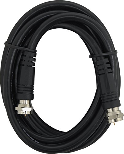 GE 23217 Video Kabel funkybuys RG59 Koax mit F-Stecker jedem Ende, schwarz Jasco-kabel Audio-kabel