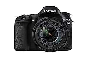 Canon EOS 80D 24.2MP Digital SLR Camera (Black) + EF-S 18-135mm f/3.5-5.6 Image Stabilization USM Lens Kit + 8GB Memory Card