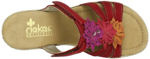 Rieker 69095-33, Sandali col tacco donna Rosso (Rot (fire/aperol/fire/pink 33))