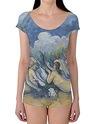 Cezanne Bathers Art Painting Boyleg Camiseta Ballet Danza XS de talla 3X l