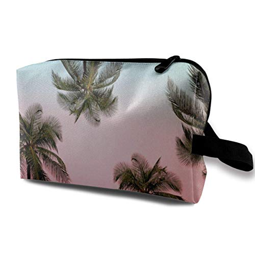 Palm Tree Red Green Combination Travel Storage Bag Cosmetic Bag