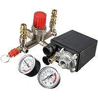 KKmoon 125 PSI 12 Bar Pequeño Compresor de Aire Regulador de Presión Regulador Ajustable Instrumento de Válvula