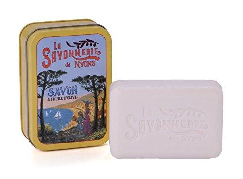 La Savonnerie de Nyons Seife Metall Box 200Gramm French Riviera, Multi/Farbe, eine Größe - Frankreich Seifen Seife
