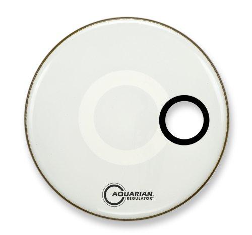 Aquarian Regulator 46 cm (18 Zoll) Bass Drum Fell mit kleinem Resonanzloch, weiß (Bass 18 Drum Head)
