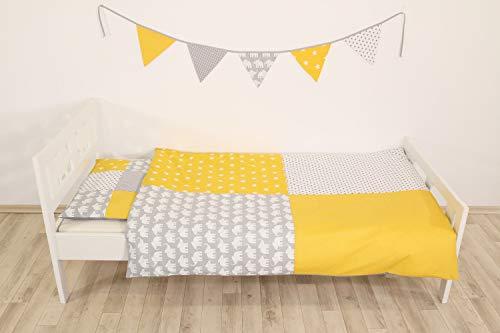 junto de ropa de cama para niño de ULLENBOOM ® elefantes amarillo...