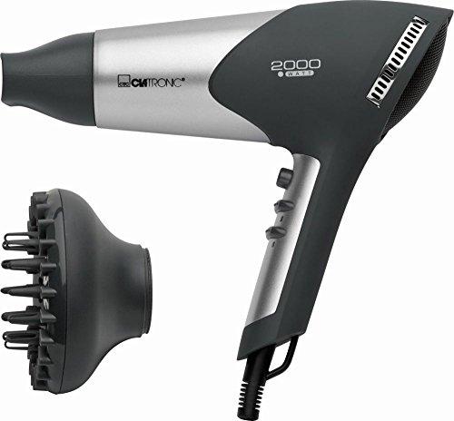 Haartrockner mit Formdüse sowie Diffuser Fön Haarfön Haar Föhn Haarföhn Harfön Volumen (leistungsstarke 2000 Watt + anthrazit)