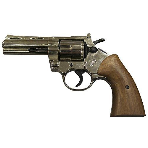 Revólver marrón Magnum de fogueo, inoxidable,...