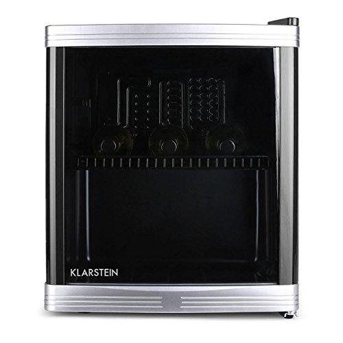 Klarstein minifrigo beerlocker (46litri, classe energetica B, silenzioso, minibar dalla struttura compatta con porta in vetro termo-isolante) - nero