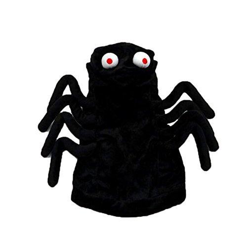 LXLP Haustierkleidung - lustiges Spinnen-Kostüm, Kapuzenpullover, Kostüm, Halloween-Dekoration, Requisite für Hunde und Katzen (Hunde Spinne Für Kostüm)
