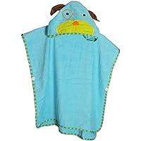 'schlupfi–Premium accappatoio a poncho per bambini in 100% cotone | ragazzi e ragazze usano Poncho anche come asciugamano, asciugamano con cappuccio o accappatoio per bambini animali (Variante: