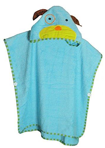 Schlupfi Badeponcho Kinder: Kinderhandtuch mit Kapuze - Handtuch Poncho mit Tiermotiv, Kapuzenhandtuch für Jungen und Mädchen