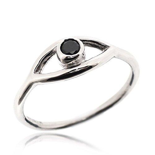 Sovats Damen Bösen Blick Ring, Größe 60 (Karma Ring Diamant Mit)