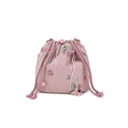 ZHRUI Koreanische Mode Wilden Messenger Tasche Schultertasche Kleine Frische Pumps Sen Quaste Eimer Tasche