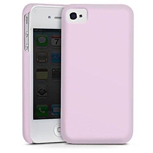 Apple iPhone 4 Housse Étui Silicone Coque Protection Lilas Violet plus clair Lilas Cas Premium mat