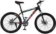 VLRA BIKE mountain bike bike sport fitness mountain bike 26 inch 24 inch couple bike (black/green, 26)