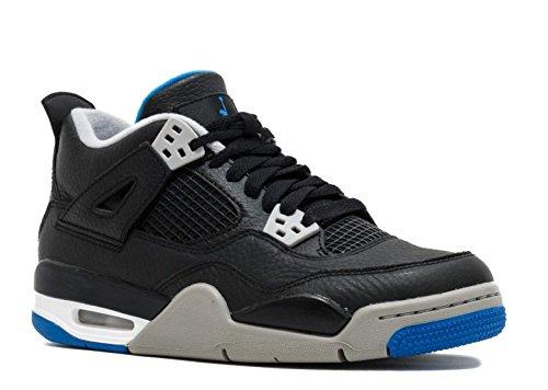 Jordan Big Kids Air Jordan IV Retro GS black soar-matte silver-white Size 6.0 US (Kids Jordan 4 Retro)