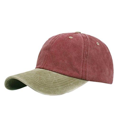 XueXian(TM) Hommes Chapeaux de Soleil Style Simple Deux Couleurs Casquettes de Baseball en Coton