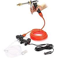 Houkiper Lavadora de coche, bomba de lavadora de alta presión, 12V 80W 130PSI Lavadora
