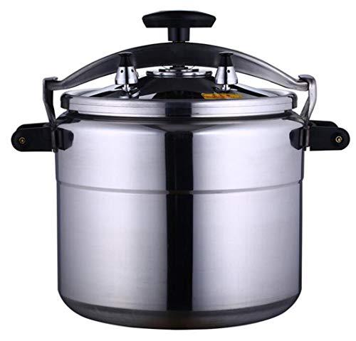 XGHW Edelstahl Schnellkochtopf mit großer Kapazität Multi-Cook Slow Cooker Dampfer und Wok Suppentopf Induktionsbasis Küche Kochen (Color : Silver, Size : 9L) (Crock Pot Schnellkochtopf Und)