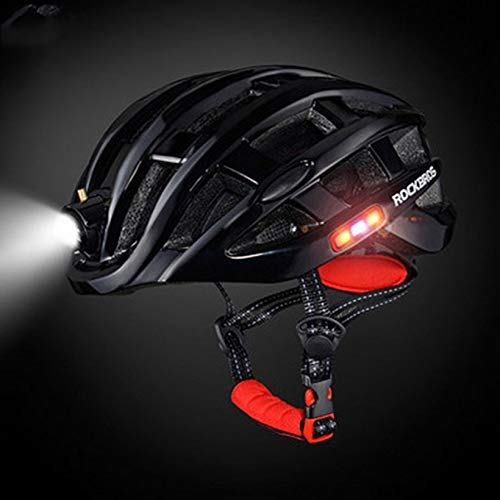 QingTanger ROCKBROS Outdoor Sports Helmet with Light Mountain Bike Riding Safety Helmet