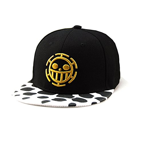 Preisvergleich Produktbild Anime One Piece Cosplay Canvas Snapback Cap Hip Hop Baseball Sports Hat (Black H) by CTMBB