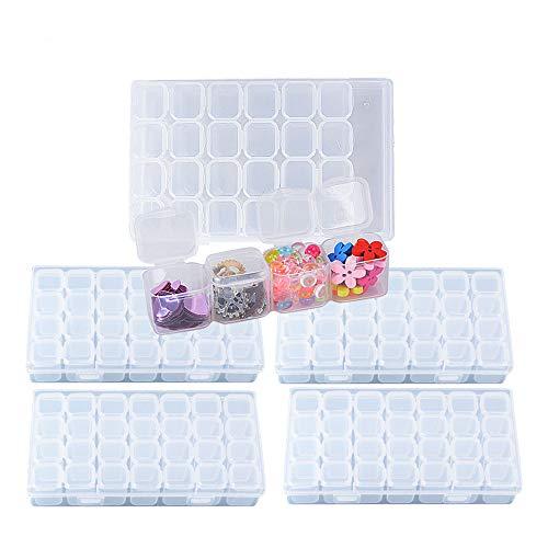 Especificaciones:  Material: plástico OPP Color: transparente Tamaño: Caja: 17,5*11*2,7cm Compartimento: 2,2*2,5*2,4cm Caja transparente, más fácil de encontrar lo que quieres. Cada compartimento tiene una tapa, tiene un buen sellado. Práctico y fáci...
