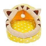XF Animalerie Pet Nest Lavable Chiot Chien Chat Automne Et Hiver Universal Nid Tapis pour Chien Fournitures pour Animaux - 35 × 35 × 32cm Chenils (Couleur : B, Taille : 35 * 35 * 32cm)