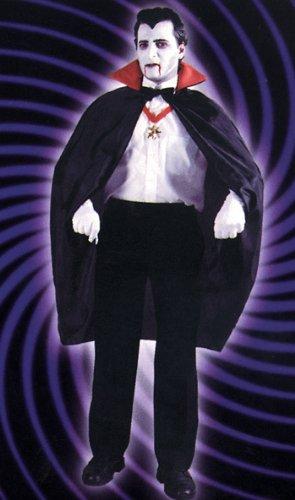 RG Kost-me 75010 Red Nylon Taft Cape - 45 - Cape Taft Kostüm