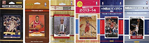 NBA Houston Rockets 6 Different Licensed Team Set Trading Card
